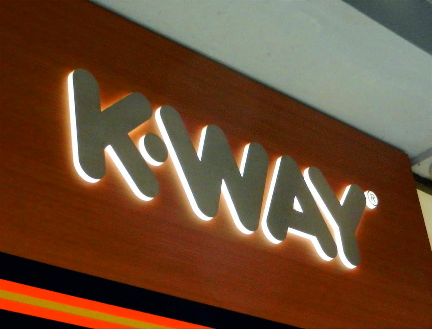 K-Way insegne negozi roma